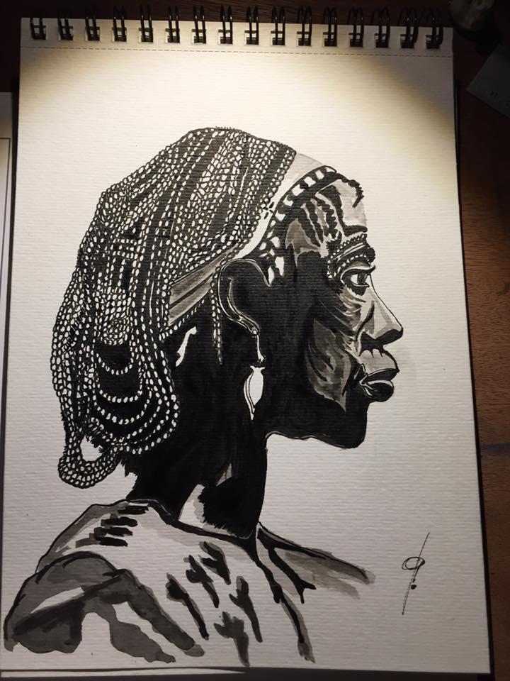 portrait femme africaine-Patrice Vannicatte