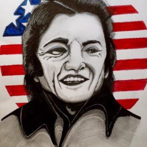 Portrait johnny cash- patrice vannicatte