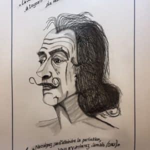Salvador DALI citations et portrait - patrice Vannicatte