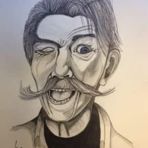 portrait vieil homme espiègle - patrice vannicatte