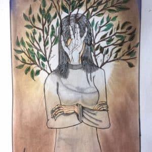 portrait la femme tronc-Patrice Vannicatte