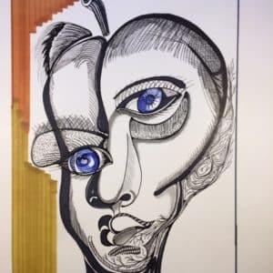 portrait face de poire- Patrice Vannicatte