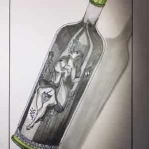 Woman in a bottle-Patrice Vannicatte