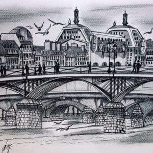 Enfilade des ponts du Louvre Paris-Patrice Vannicatte