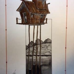 La maison-bateau à échasses-Patrice Vannicatte