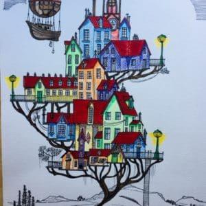 Le Village haut en couleurs-Patrice Vannicatte