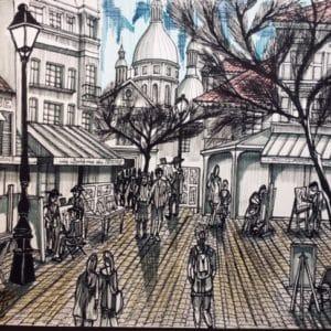 Place du Tertre Montmartre-Patrice Vannicatte