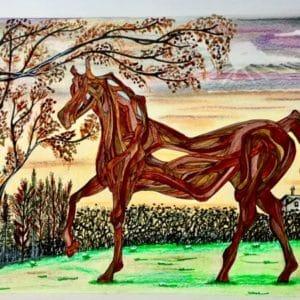 Le cheval en bois flotté-Patrice Vannicatte