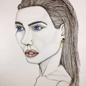 portrait de femme n°35-Patrice Vannicatte