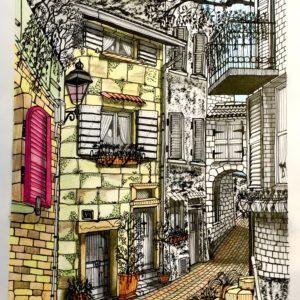 petite rue du village de Porto en Corse-Patrice Vannicatte
