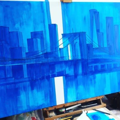 pont de brooklyn acrylique 2