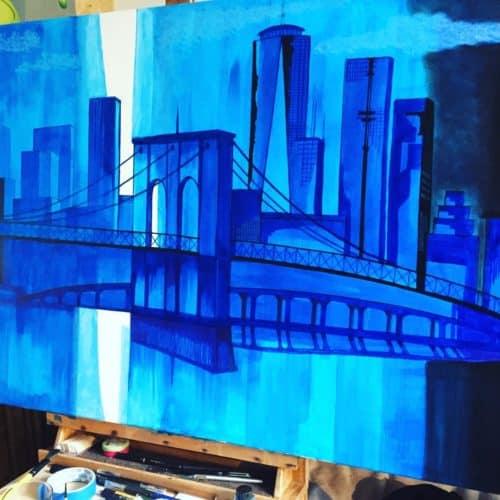 pont de brooklyn acrylique 3