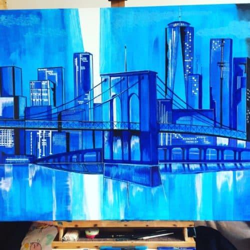 pont de brooklyn acrylique 4