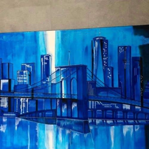 pont de brooklyn acrylique 5